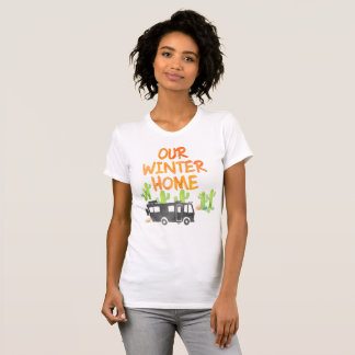 RV Camping Our Winter Home Watercolor T-Shirt