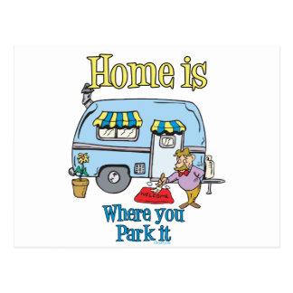 Rv Camping Postcard