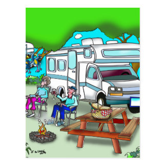RV Cartoon 9475 Postcard