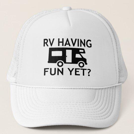 RV Having Fun Yet Funny Wordplay Trucker Hat