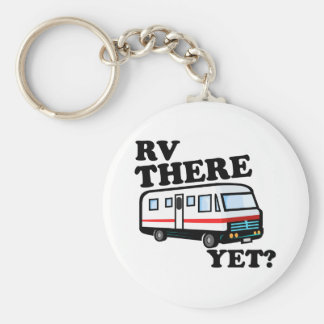 RV THERE YET? (white) Basic Round Button Key Ring