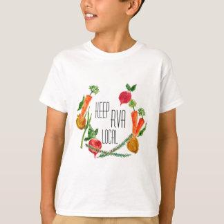 RVA Go Local Farm Fresh Design Kids T Shirt