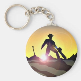 RWAC: Cowboy Chainsaw Spade Key Ring