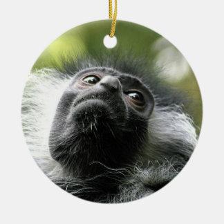 Rwanda Colobus Monkey Ornament