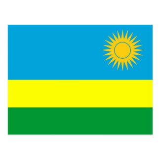 rwanda country flag nation symbol postcard