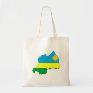 rwanda country flag shape map symbol tote bag