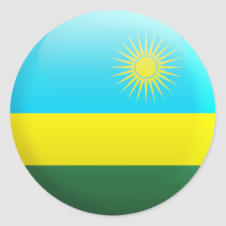 Rwanda Flag Classic Round Sticker