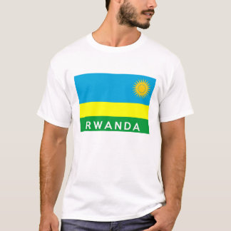 rwanda flag country text name T-Shirt