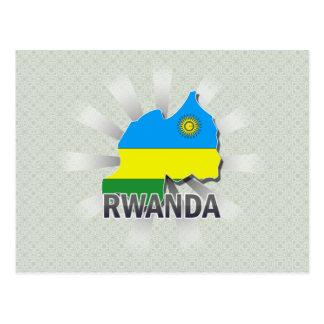 Rwanda Flag Map 2.0 Postcard
