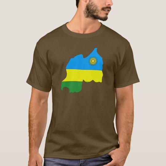 Rwanda flag map T-Shirt