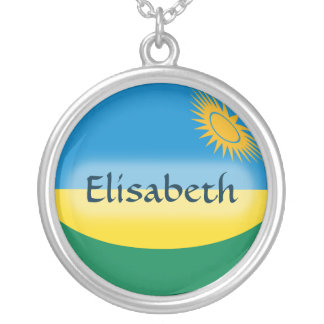 Rwanda Flag + Name Necklace