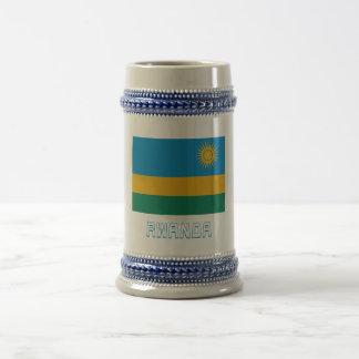 Rwanda Flag with Name Coffee Mugs