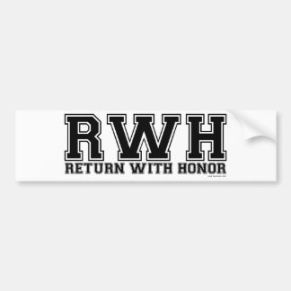 RWH - Return With Honor Bumper Sticker