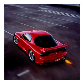RX7 Sports import Poster