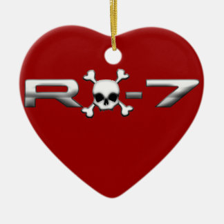 RX7 with a skull Christmas Ornament
