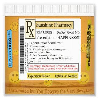 RX Prescription for Happiness Photo Print