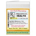 RX Prescription for Health Get Well Card