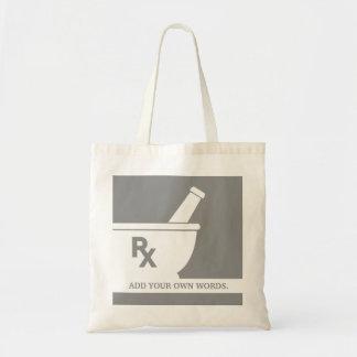 Rx Symbol Pharmacology Mortar and Pestle Custom Budget Tote Bag