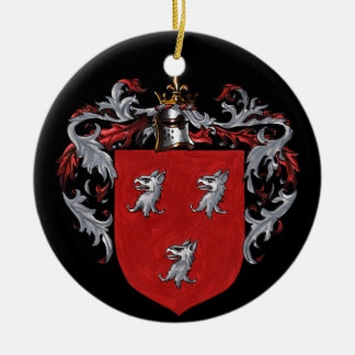 Ryan Coat of Arms Double-Sided Ceramic Round Christmas Ornament