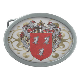 Ryan Coat of Arms Oval Oval Belt Buckles