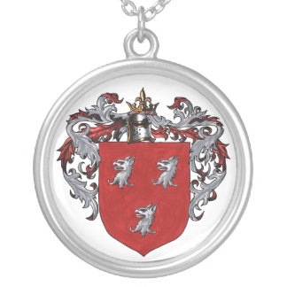 Ryan Coat of Arms Round Pendant Necklace