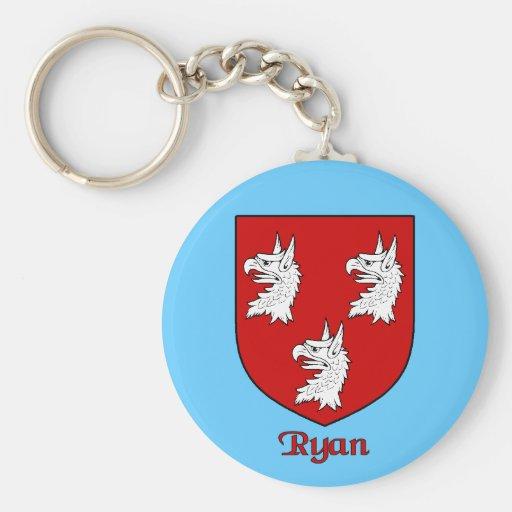 Ryan Family Shield Keychain