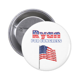 Ryan for Congress Patriotic American Flag 6 Cm Round Badge