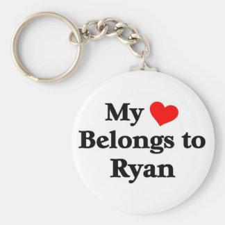 Ryan has my heart basic round button key ring
