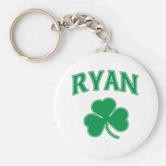 Ryan Irish Basic Round Button Key Ring