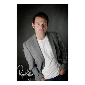 """Ryan Kelly Music - Poster- Grey-""""Signed"""""""