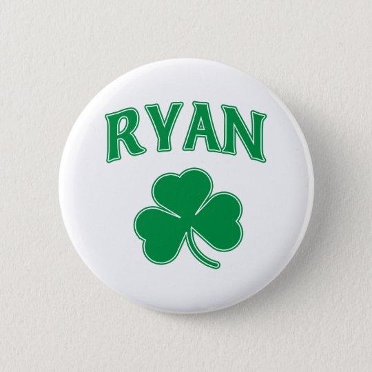 Ryan Shamrock 6 Cm Round Badge