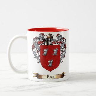 Ryan Shield of Arms Two-Tone Mug