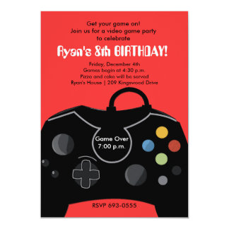 RYAN'S VIDEO GAME PARTY INVITATIONS