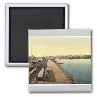 Ryde, from pier, Isle of Wight, England rare Photo Square Magnet