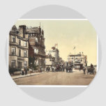 Ryde, hotels and coaches, Isle of Wight, England r Round Sticker