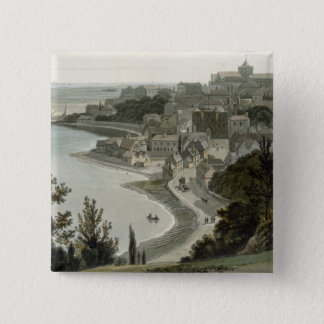 Rye, East Sussex, from 'A Voyage Around Great Brit 15 Cm Square Badge