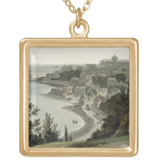 Rye, East Sussex, from 'A Voyage Around Great Brit Gold Plated Necklace