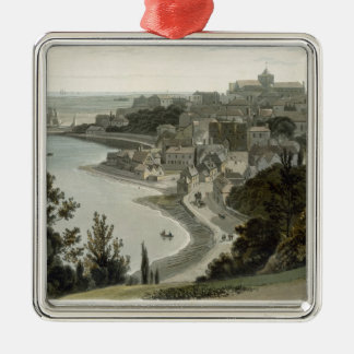 Rye, East Sussex, from 'A Voyage Around Great Brit Silver-Colored Square Decoration