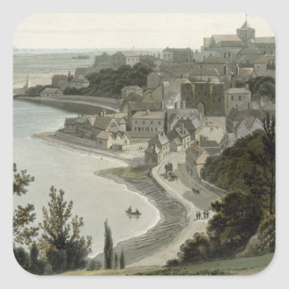 Rye, East Sussex, from 'A Voyage Around Great Brit Square Sticker