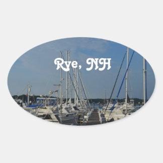 Rye NH Harbor Oval Sticker