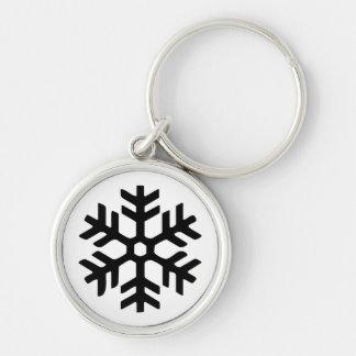 Rye North black snowflake key chain