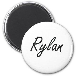 Rylan Artistic Name Design 6 Cm Round Magnet