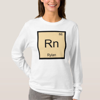 Rylan Name Chemistry Element Periodic Table T-Shirt