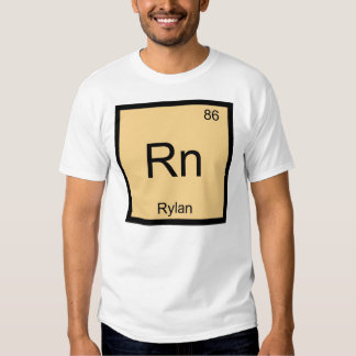 Rylan Name Chemistry Element Periodic Table T Shirts