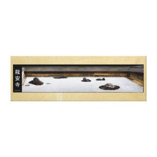 ryoanji japan zen garden gallery wrap canvas