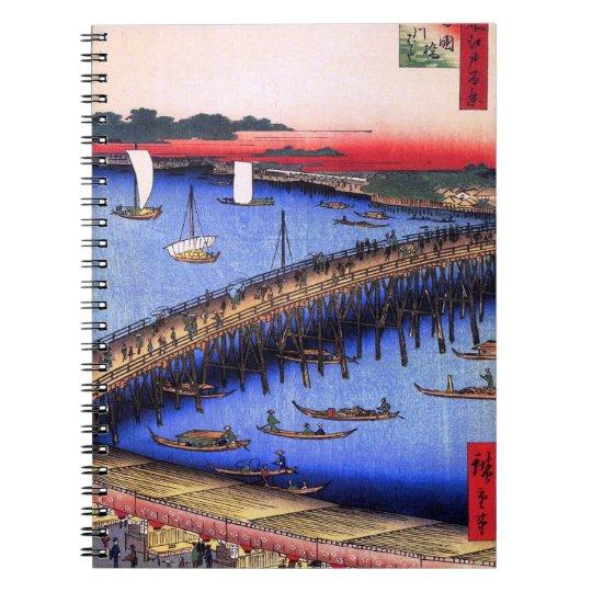 Ryōgoku Bridge and the Great Riverbank (両国橋大川ばた) Notebooks
