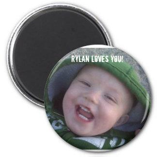 ryry, Rylan loves You! 6 Cm Round Magnet