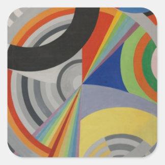 Rythm by Robert Delaunay Square Sticker