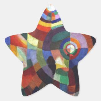 Rythm by Robert Delaunay Star Sticker