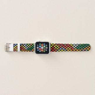 Rythme Joie de Vivre with Checker Pattern Apple Watch Band